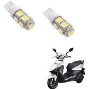 Auto Addict Scooty T10 9 SMD Headlight LED Bulb for Headlights Parking Light Number Plate Light Indicator Light For Indus Yo Edge