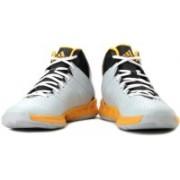 Adidas Cross 'Em 3 Basketballl Shoes For Men(Yellow, Black, Grey)