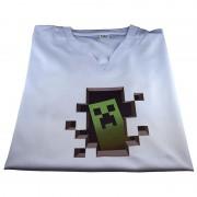 Tricou personalizat alb Minecraft Creeper
