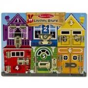 Активити играчка - Дървен борд с ключалки 13785 Melissa and Doug, 000772137850