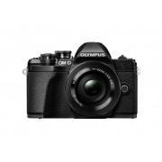 Olympus Digitalkamera Olympus OM-D E-M10 Mark III Kit M 14-42 mm + 40-150 mm 17.2 Megapixel Svart WiFi, Full HD Video, Optisk bildavsökare, Elektronisk sökare, med