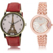 The Shopoholic Pink Silver Combo Latest Collection Fancy And Attractive Pink And Silver Dial Analog Watch For Girls Girl'S Watch