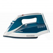 Plancha suela de ceramica vapor vertical Black & Decker IR2060 azul