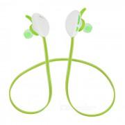 X13 Bluetooth V4.1 auriculares deportivos de cuello con NFC - Blanco + Verde