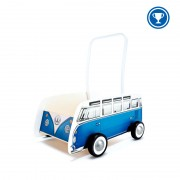 Autobus na tlačenie VW modrý