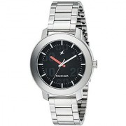 Fastrack Quartz Black Round Men Watch 3121SM02
