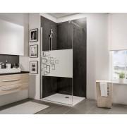 Schulte Home Paroi de douche fixe à l'italienne Walk In 100 cm, décor Softcube