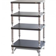 solidsteel Hyperspike HP Series 4 Shelf Audio Rack- Slate Black
