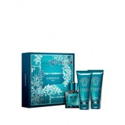 Set cadou Versace Eros (Apa de toaleta 50 ml + Gel de dus 50 ml + After shave balsam 50 ml), pentru barbati