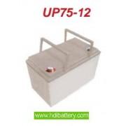 Bateria de plomo agm 12 Voltios 75 Amperios UP75-12 UPOWER