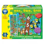 Puzzle de podea Invatam sa numaram (30 piese - poster inclus) ONE TWO THREE