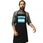 Bellatio Decorations Argentinie vlag barbecueschort/ keukenschort zwart volwassenen
