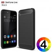 Asus Zenfone Live ZB501KL Удароустойчив Carbon Fiber Калъф и Протектор