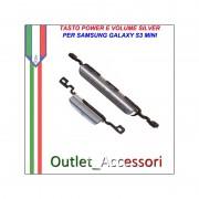 Tasti Tasto Volume Accensione Power Silver per Samsung Galaxy S3 Mini I8190 GT