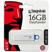 Memorie USB Kingston ,DataTraveler G4 16GB, USB 3.1/3.0/2.0, Albastru + Ambalaj Retail