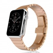 Stainless Steel Replacement Watch Strap Link Bracelet for Apple Watch Series 4 44mm/3/2/1 42mm - Rose Gold