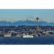 Handmade In The Usa Cedar Jigsaw Puzzle Features Seattle Skyline And Space Needle