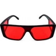 WESTORE Over-sized Sunglasses(Red)