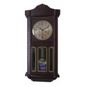 Ceas de perete mecanic cu arcuri Adler 31 zile, Wenge 7102-5