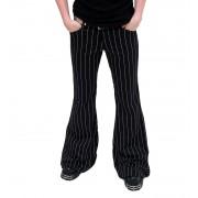 pantalon pour femmes Mode Wichtig - Flares Pin Stripe Noir-B