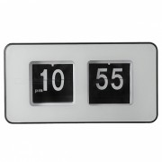 BSTUO Simple Moderno Retro unico Cubo Auto Flip Clock - Negro