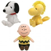 Ty Beanie Babies Peanuts Characters (Set Of 3 Charlie Brown, Snoopy & Woodstock Plays Music)