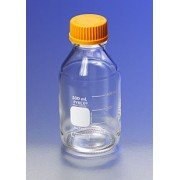 PYREX 1L Round Media Storage Bottles, with GL45 Screw Cap, Ea