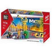 Joc constructie, My Fire Brigade, Utilaj pompieri, 75 piese Blocki
