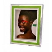 Rama foto verde argintata Benetton Made in Italy dimensiuni 25x20x4.7 cm