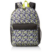 Lime Digi Camo 17 Inch Backpack with Headphones