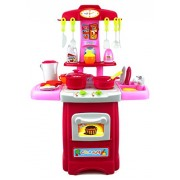 Fun Cook Pretend Play Children's Toy Kitchen Cooking Playset w/ Toy Food, Utensils, Lights & Sounds, Perfect for Your Little Chef