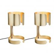 QAZQA Set de 2 lampes de tables Waltz or