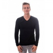 Claesens Men Longsleeve V-neck Black ( CL 1024 )