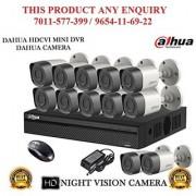Dahua 1 MP HDCVI 16CH DVR + Bullet Camera 12Pcs CCTV Combo