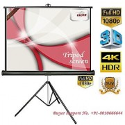 ELCOR Tripd projector screens 5ft x 7ft with 100 Diagonal In HD3D 4K Technology
