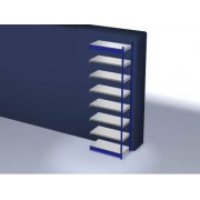 Discountoffice Systeemstelling Aanbouwveld HxBxD 3000x1025x500mm Vakl. 200kg