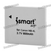ismart digi replacement NB-4L 800mah bateria para canon IXUS 100IS / IXUS 110IS / IXUS 120IS y mas