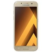 "Telefon Mobil Samsung Galaxy A3 (2017), Procesor Octa-Core 1.6GHz, Super AMOLED capacitive touchscreen 4.7"", 2GB RAM, 16GB Flash, 13MP, 4G, Wi-Fi, Dual Sim, Android (Auriu) + Cartela SIM Orange PrePay, 6 euro credit, 4 GB internet 4G, 2,000 minute nationa"