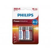 Philips LR03P6BP/10 - 6 buc Baterie alcalina AAA POWER ALKALINE 1,5V