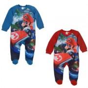 Super Mario Bros Super Mario Pyjamas i fleece 6-23 månader (Blå, 6 MÅN - 67 cm)