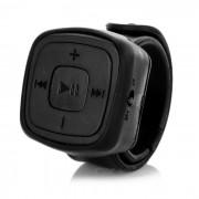 Muneca Mini reloj estilo reproductor de musica MP3 con ranura para tarjeta TF - negro