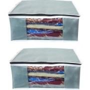 Litleo Garment Saree Travel Fancy Cover Set of 2(Grey)