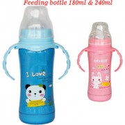Toys Factory Styles Baby Feeding Bottle Plastic 180 ml 240 ml Colour May Vary