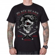 tee-shirt street pour hommes - DENY BOY - BLACK HEART - 001-0152-BLK