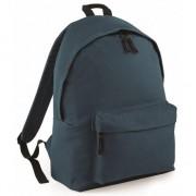 Bagbase Hippe rugtas met voorvak grijsblauw - Rugzak