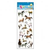 Merkloos Poezie album stickers paarden