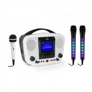KaraBanga + Dazzl Mic Set Impianto Karaoke Microfono Bluetooth Schermo TFT