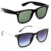 TheWhoop New Combo Green Violet Wayfarer Sunglasses