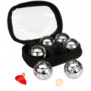 Get & Go Mini Jeu De Boules Set 6 Ballen Chroom