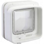 Вратичка за котки SureFlap DualScan с микрочип - адаптер за монтиране в стъкло, бял